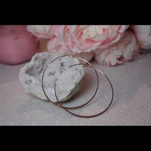 Stylish rose gold hoop earrings